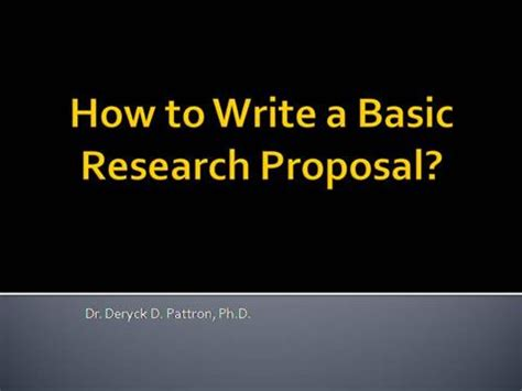 Research proposal paper format